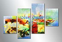抽象油画拼画
