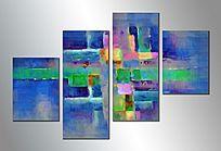 抽象组合拼画抽象油画拼画