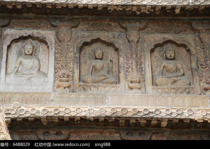 五塔寺石刻佛像墙壁刻图片