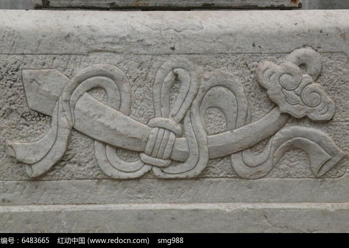 五塔寺石刻浮雕如意绶带