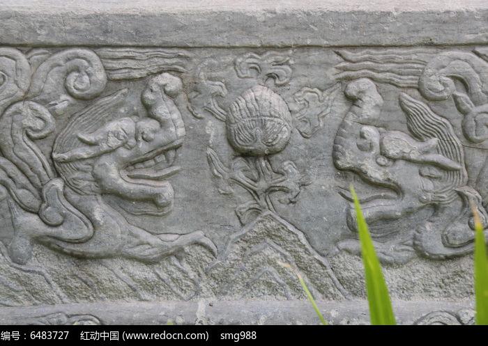 五塔寺石刻龙戏珠