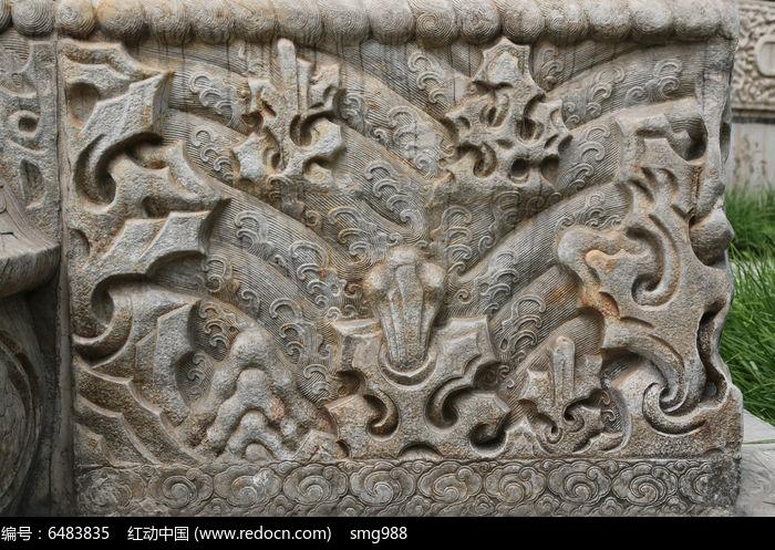 五塔寺石刻清代浮雕山纹水纹