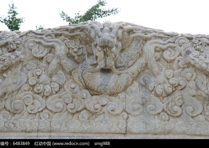 五塔寺石刻清代祥云龙纹石雕