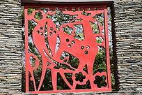 中国风剪纸背景图片