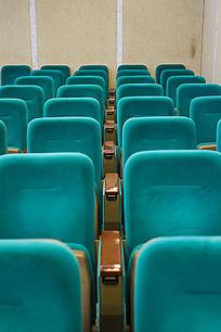 蓝色布艺座椅