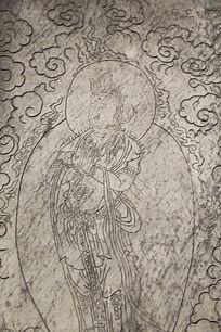 五塔寺石刻明代合掌站姿达摩雕像