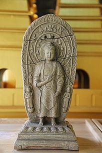 五塔寺石刻站姿佛像