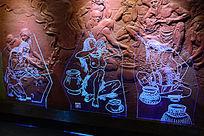 描绘古代人的灯饰
