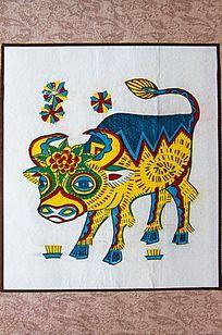 木板年画十二生肖 牛