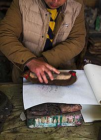 木板年画 手工踏板