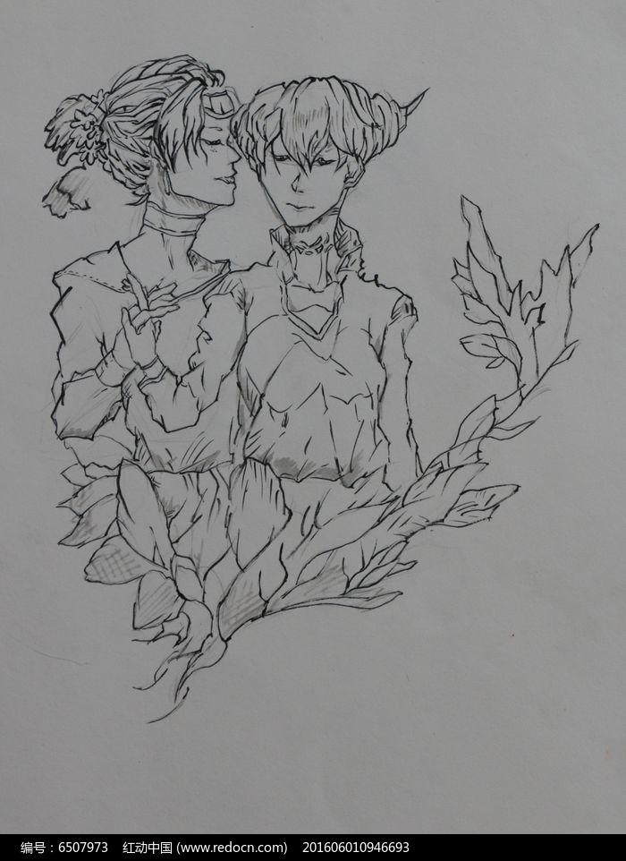 拥抱的两个人