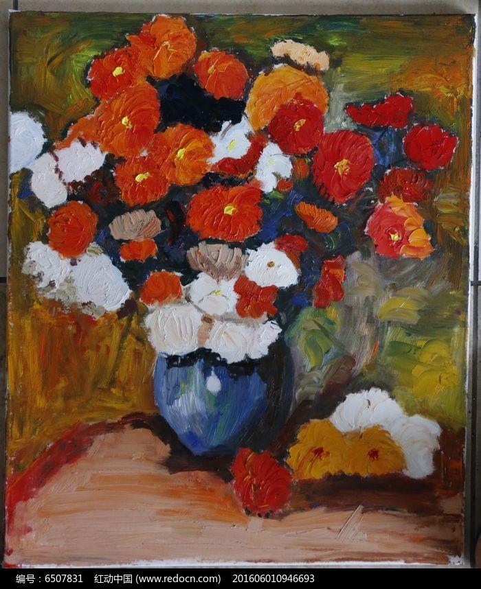 油画花卉临摹图片,高清大图_插画绘画素材
