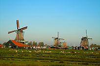 荷兰风光之草原风车