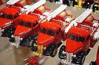 红色的消防车