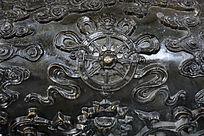 铜浮雕佛八宝法轮
