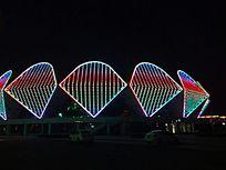 游泳馆夜景