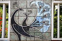 孔雀壁刻艺术