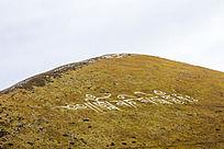 川藏线高山上的藏文