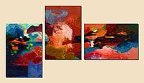 三联抽象装饰画