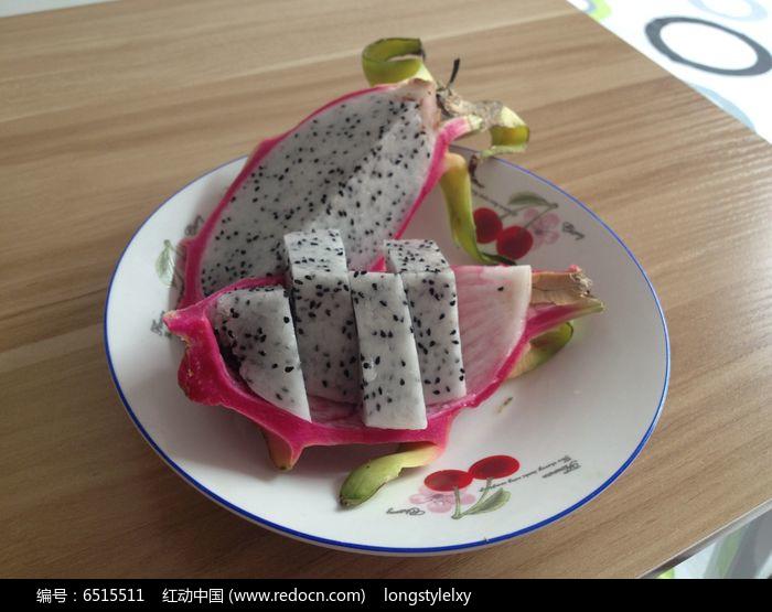 香甜的火龙果拼盘图片