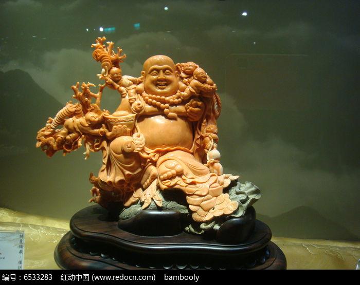 弥勒佛玉石雕刻图片