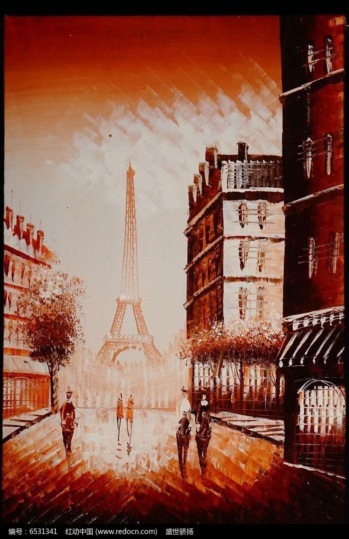 欧式风景油画图片,高清大图_插画绘画素材