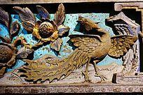 凤凰木雕画