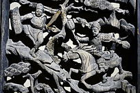 古代人物木雕