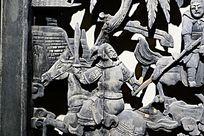 古代争战人物木雕