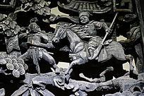古装骑马人物雕像