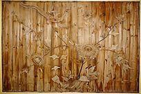 花鸟木雕工艺画
