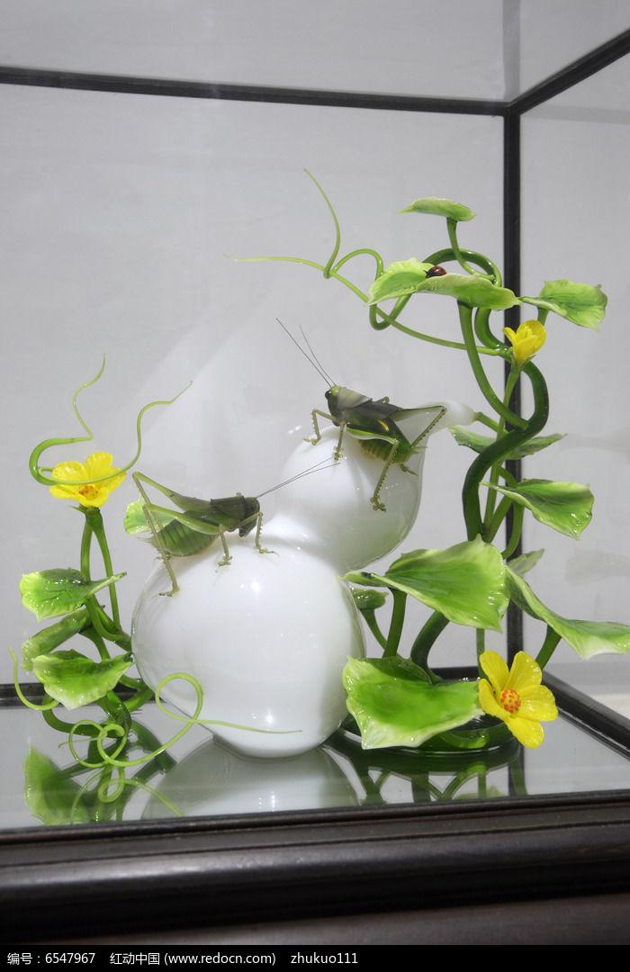 钩织葫芦盆景图解