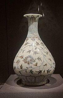 青花缠枝牡丹纹玉壶春瓶