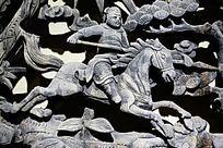 骑仕木雕人物