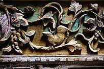 神兽花卉木雕