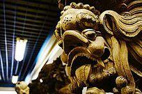 神兽木雕建筑用品