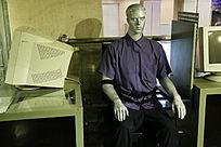 心理测试系统电脑和模特