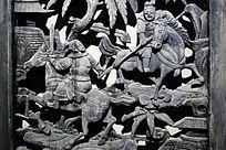 争战木雕人物