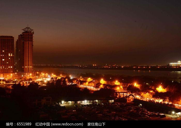九江城市夜景图片