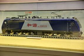 和谐号内燃机火车车头模型