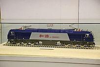 和谐型蓝色内燃机车机车模型