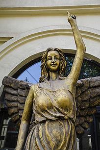 女神招手雕像