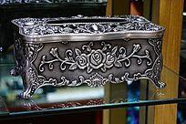 欧式金属抽纸盒