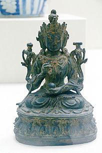 清朝铜佛像