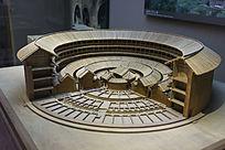 福建圆形土楼建筑模型