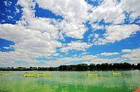 天蓝水绿风景