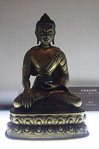 托体鎏金佛像