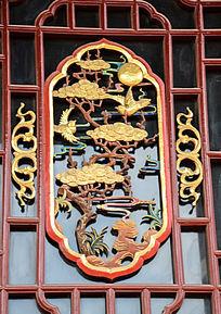喜鹊雕花窗
