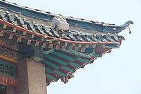 中国传统雕花屋檐