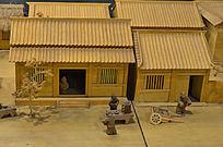 古代建筑竹建筑模型